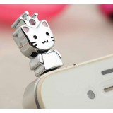 Cat dust plug for 3.5MM headphone jack