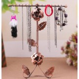 Charming rose necklace display