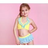 Children skirt style bikini swimwear