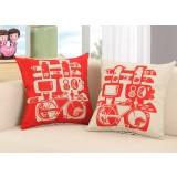 Chinese-style wedding pillowcase