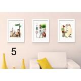 Chinese style minimalist photo frame combination