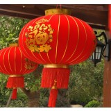 Chinese style red flannel lanterns