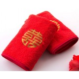 Chinese style red package edge wedding towel