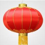 Chinese style red satin lanterns