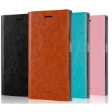 Clamshell leather case for ZTE N939ST