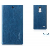 Clamshell leather mobile phone case for ZTE B880