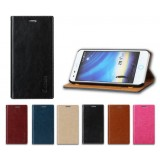 Clamshell leather protective cover for ZTE S6