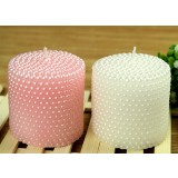 Classic pearl wedding candles