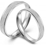 Classic shinning couples sterling silver ring