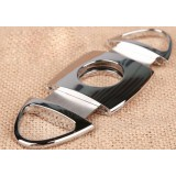 Classic silver stainless steel cigar cutter
