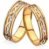 Classic sterling Silver gold plated Wedding Ring