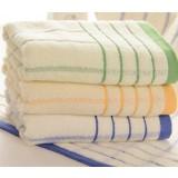 Classic stripes light-colored towel