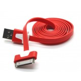 Color flat Noodle USB data cable for iphone4s / 4