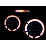 Colorful decorative lights for bicycle wheels