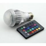 Colorful Smart Dimmable 10W E27 COB LED ball bulbs