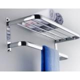 Copper bathroom towel holder