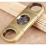 Copper color stainless steel cigar cutter