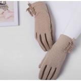 Cotton female summer sunshade driving gloves