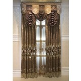 Country-style hollow embroidered curtains
