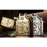 Cross electric arc USB charging windproof lighter