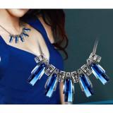 Crystal female brief fashion necklace