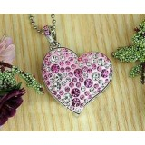 Crystal Heart Necklace USB Flash Drive