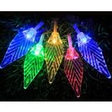 Crystal leaves LED holiday lights