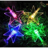 Crystal pointed star LED holiday lights