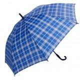 Curved handle semi-automatic umbrella