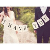 Customized wedding square banner