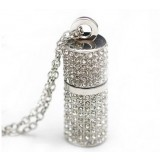 Cylindrical Crystal USB flash drive