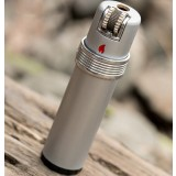 Cylindrical metal wheeled lighter