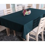 Dark green rectangular minimalist tablecloths