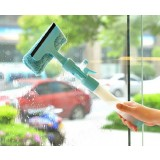 Detachable water spray glass cleaning brush