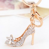 Diamond Beautiful high heels keychain