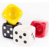 Dice-style ceramic ashtray