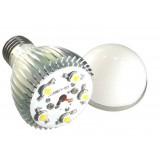 Dimmable 5W silver E27 LED ball bulbs