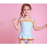 dots skirt style children one-piece swimwear