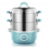 Double-layers large capacity electric steamer