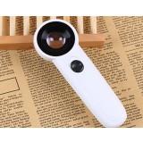 Double-lens 45X handheld magnifier