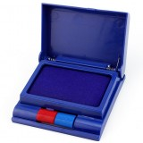 Double color semi-automatic ink pad