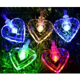 Double Hearts LED holiday lights