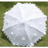 double layer white lace wedding umbrella
