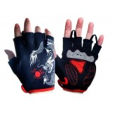 Dragon half finger cycling gloves