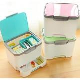 Drawers style portable medicine box