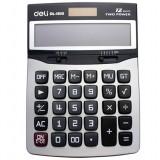 Dual Power 12 digits gray calculator