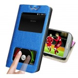 Dual Windows Flip Leather Case for ZTE n919 n919d