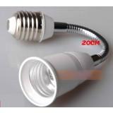 E27 freely rotating extension tube LED bulb socket converter