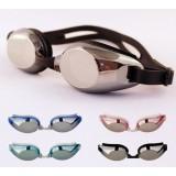 Electroplating waterproof swimming goggles