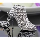 Elegant high heels zinc alloy keychain